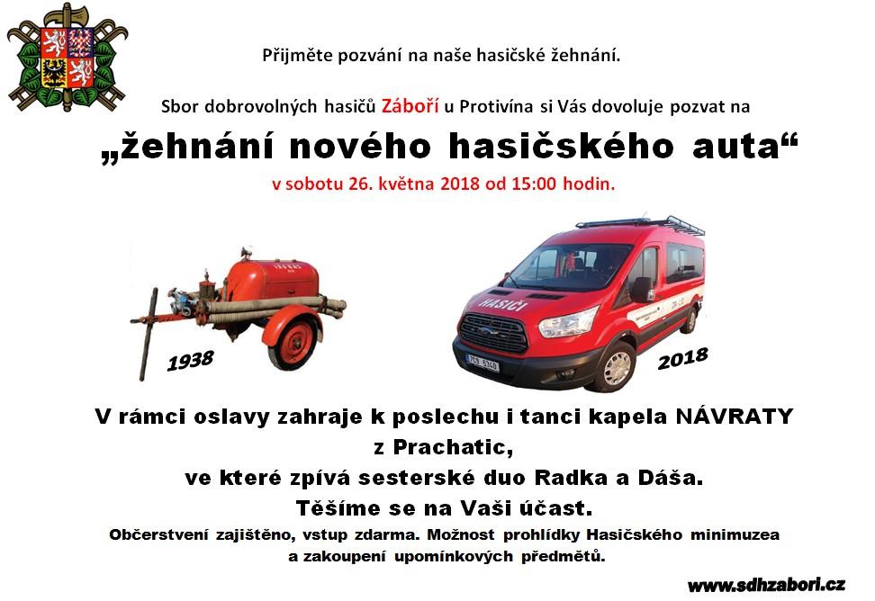 Žehnání nového hasičského auta